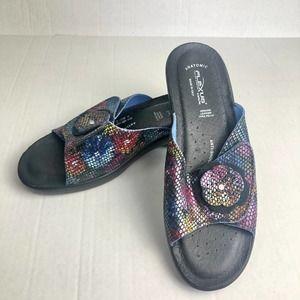 Flexus Comfort Sandal Spring Step Navy Size 10.5